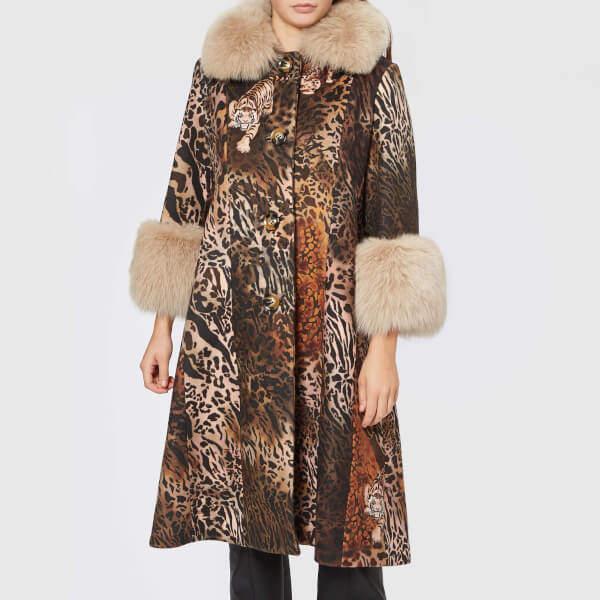 Saks Potts Women's Yvonne Animal Coat Brown