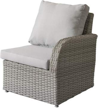 Corliving Brisbane Weather-Resistant Right-Arm Wicker Patio Chair