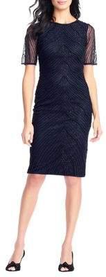 Adrianna Papell Deco Beaded Sheath Dress