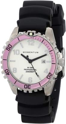 Momentum Women's 1M-DV07WR1B M1 Mini Analog Display Japanese Quartz Black Watch