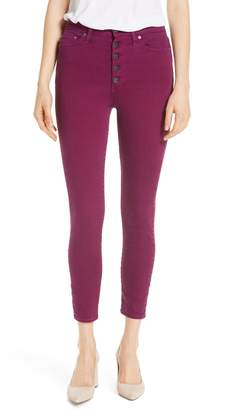 Alice + Olivia AO.LA Good High Rise Exposed Button Fly Colored Jeans
