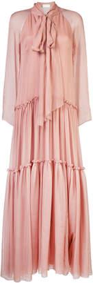 Alberta Ferretti bow tie tiered dress