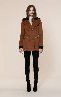 Soia & Kyo FIORELLA classic wool coat with removable rib collar