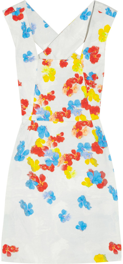 Erdem Nell printed cotton-twill dress