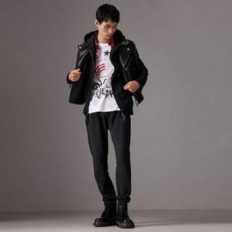 Burberry x Kris Wu Leather Biker Jacket