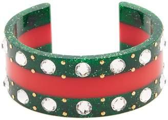 Gucci Web crystal-embellished cuff
