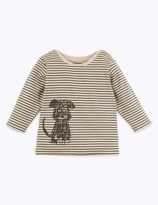 Marks and Spencer Organic Cotton Striped Top