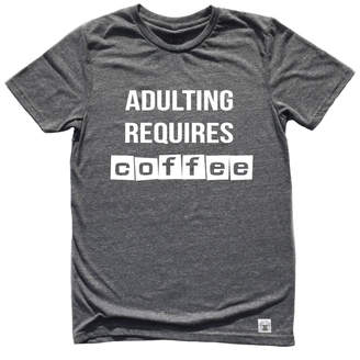 Etsy Unisex Tri-Blend T-Shirt Adulting Requires Coffee