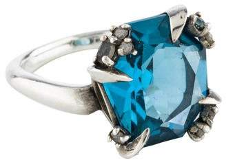 Alexis Bittar Topaz, Diamond & Aquamarine Midnight Marquise Ring