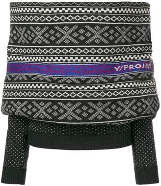 Y/Project Y / Project contrast knitted wrap top