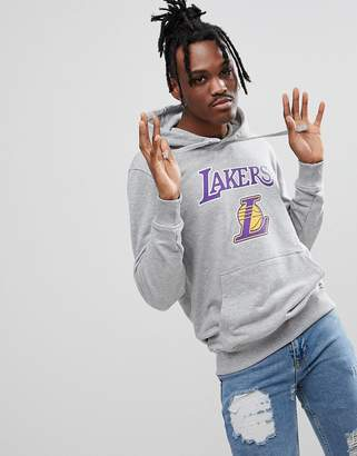 New Era NBA LA Lakers Hoodie In Gray