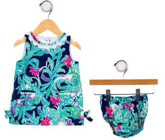 Lilly Pulitzer Girls' Floral Print Two-Piece Dress Set