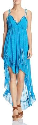 Karina Grimaldi Saralyn Printed Ruched Maxi Dress