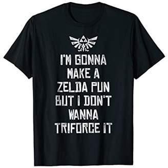 Nintendo Zelda Funny Triforce It Pun Graphic T-Shirt