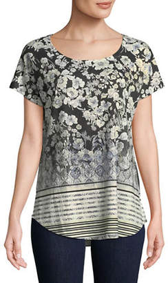 Style&Co. STYLE & CO. Printed Short-Sleeve Top