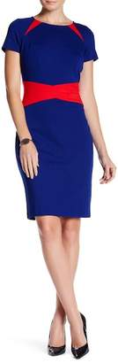 NUE by Shani Short Sleeve Colorblock Dress