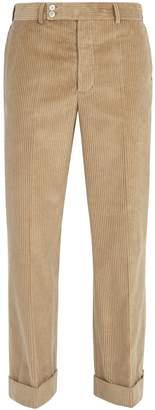 Maison Margiela Wide-leg cotton-corduroy trousers