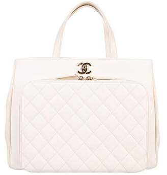 Chanel 2017 Quilted Shopping Tote
