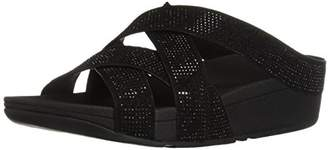 FitFlop Women's Slinky Rokkit Criss-Cross Slide Sandal