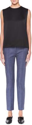 The Row Tao Straight-Leg Stretch-Wool Pants