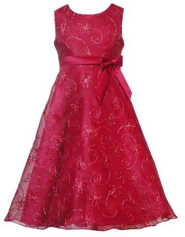 Rare editions 7-16 floral soutache dress
