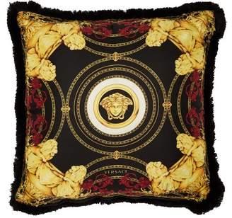 Versace Ganimede Medusa Silk Cushion - Black Red