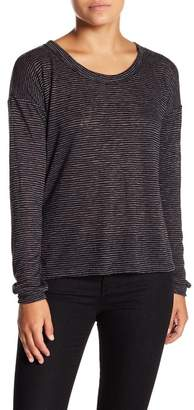 Project Social T Striped Drop Shoulder Long Sleeve Tee