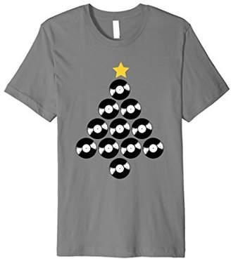 Record Collector Shirt Vinyl Record Christmas Tree T-shirt