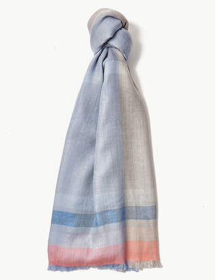 M&S Collection Striped Scarf
