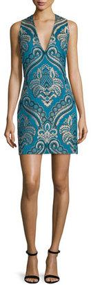 Alice + Olivia Natalee Paisley Sleeveless Sheath Dress $375 thestylecure.com