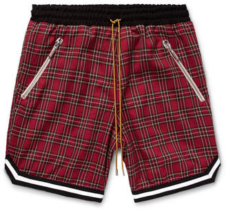 b8881f36f Rhude Checked Cotton Drawstring Shorts