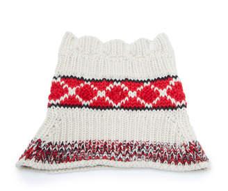 Isabel Marant Estil Intarsia Knit Wool-Blend Snood Scarf