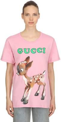Gucci Bambi Printed Cotton Jersey T-Shirt