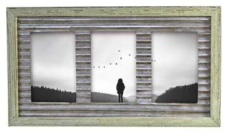 Foreside Home & Garden Green\u002FSilver 4x6 Triple Photo Vista Frame