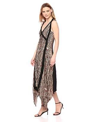 fbc07187c8 BCBGMAXAZRIA Azria Women s Sandy Dots Asymmetric Dress