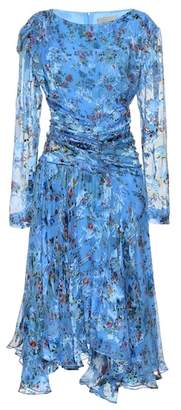 Preen by Thornton Bregazzi Kelsey silk-blend devore dress