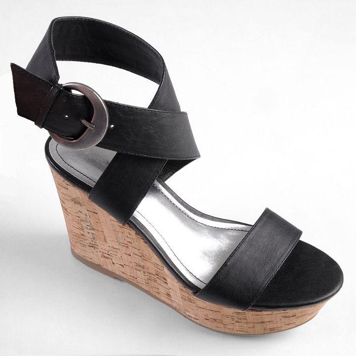 Journee Collection pippa platform wedge sandals - women