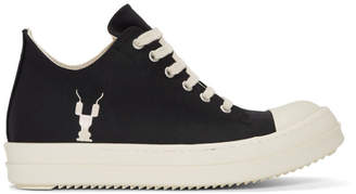 Rick Owens Black Grosgrain Low Sneakers