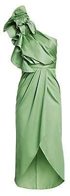Johanna Ortiz Women's Persian Opulence Asymmetric Ruffle Midi Dress