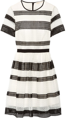 MICHAEL Michael Kors - Paneled Crocheted Lace Mini Dress - White $295 thestylecure.com