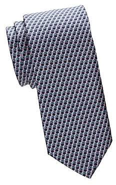 Canali Men's Book Pattern Silk Tie
