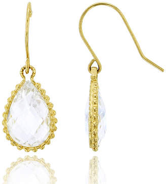FINE JEWELRY 6 CT. T.W. Simulated White Cubic Zirconia 14K Gold Pear Drop Earrings