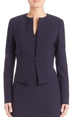 Blurred Focus Cropped Jacket $445 thestylecure.com