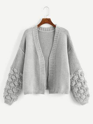 Shein Crochet Bishop Sleeve Cardigan