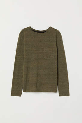 H&M Long-sleeved Jersey Shirt - Green