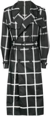 Alexander McQueen check print trench coat