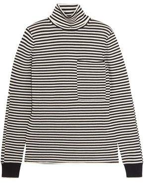 Joseph Striped Merino Wool Turtleneck Sweater