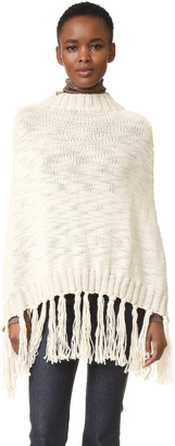 Hat Attack Knit Poncho $88 thestylecure.com