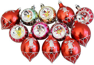 One Kings Lane Vintage Fancy Christmas Ornaments w/Boxes