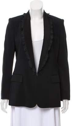 Stella McCartney Ruffle-Trimmed Wool Blazer